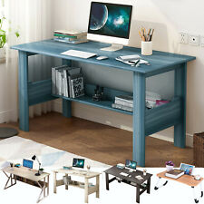 Computer Desk Pc Laptop Table Study Workstation Wood Home Office W/Shelf Usa Va