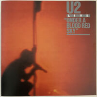 U2 UNDER A BLOOD RED SKY CD ISLAND USA YELLOW DOT CLUB PRESS NO BARCODE NR MINT