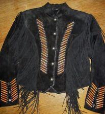 Cripple Creek Leather Jacket Fringe Southwest L Large Silver Conchos