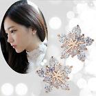 New Chic Fashion Women Gold Flower Ear Stud Lovely snowflake Earrings Girl Gift