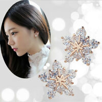 New Chic Fashion Women Gold Flower Ear Stud Lovely snowflake Earrings Girl Gift