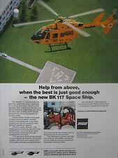 2/1989 PUB MBB DEUTSCHE AEROSPACE BK 117 MUNCHEN ADAC AIR RESCUE ORIGINAL AD