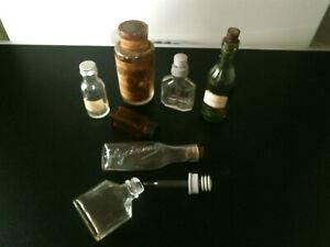anciens flacons en verre  pharmacie