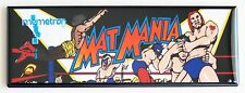 Mat Mania Marquee FRIDGE MAGNET (1.5 x 4.5 inches) arcade video game wrestling