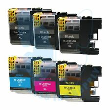 6 PACK New LC 203XL 203 Ink Cartridges For Brother J4620DW J480DW J5720DW J885DW