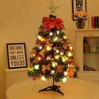 2 FT Tabletop Artificial Small Mini Christmas Tree Xmas Pine Tree Ornaments L9P4