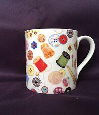 Bone China Craft Mug Sewing Bobbin Decorated In Wales