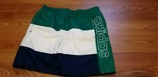 VTG 90'S ADIDAS SPELL OUT COLOR BLOCK NYLON LINED SOCCER SHORTS SZ L