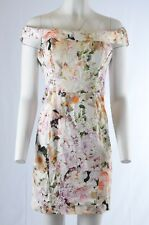 Asos Bardot Womens  Dress 8 Floral Printed Off The Shoulder short Pencil  (V)