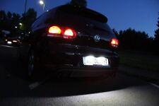 COPPIA LUCI TARGA A 6 LED SMD BIANCO GHIACCIO PER VW GOLF 5 03-09 CANBUS 36MM