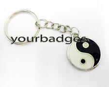 Nuevo Metal Yin Yang llavero llavero amuleto buena suerte