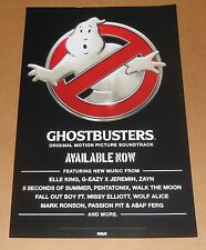 Ghostbusters Original Motion Picture Soundtrack Poster 2016 Promo 2-Sided 11x17