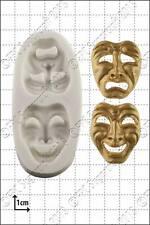Stampo in silicone commedia e tragedia maschere   uso alimentare FPC spedizione gratuita in UK!