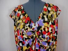 Jones Studio Career Or Casual Multi-Color V-Neck Sleeveless Tank Cami Size 3X