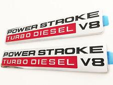 (2) 05 - 10 Super Duty Power Stroke Turbo Diesel V8 Door Emblems F250 F350