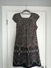 Wallis Brown Animal Print Dress Size 14
