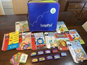 LeapFrog LeapPad Learning System Lot Of 9 Books& Cartridges + Carry Case! LOOK!!