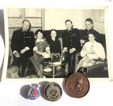 WW1 & WW2 ROYAL ENGINEERS MEDAL SWEETHEART BADGES & PHOTOGRAPH