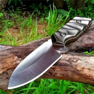 Drop Point Knife Fixed Blade Hunting Wild Tactical Combat Survival Self Defense