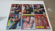 Lot of 6 WWF Raw Magazine 2001 July Aug Sept Oct Nov Dec HHH RVD Rock Divas WWE