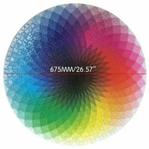 Jigsaw Puzzle 1000 Pieces Colorful Rainbow Round Educational Puzzle Adult Toy Ti