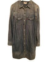 GENUINE LEVIS DENIM SHIRT DRESS SIZE M 10 BNWT! RRP £99!