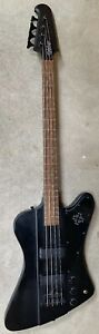 2008 Epiphone Thunderbird IV Goth Gothic Black Electric Bass