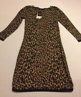 Next Size 6 Jumper Dress Knit Leopard Print RRP£28 Animal Print
