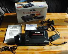 Console SEGA MASTER SYSTEM II 2 avec boite d'origine, notices, câbles etc !