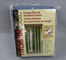 """NEW Themalogic Energy Efficient Insulated Curtain 160"""" x 84"""" Pair Blue Panels"""