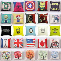 53 Styles Home Decor Cotton Linen Throw Pillow Case Sofa Car Waist Cushion Cover