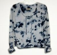Hollister Womens Long Sleeve Lace-up Cropped Tie Dye Shirt Size XS X-Small