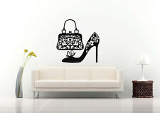 Wall Vinyl Sticker Decals Mural Room Design Fashion Shoe Purse Style bo536