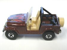 Vintage 1981 Mattel Hot Wheels Jeep CJ-7 Bronze Brown with Eagle Malaysia