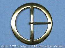 "Round Brass Buckle 3"" inch Pirate Western Mountain Man SCA LARP Renaissance"