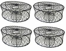 4-Pack of Kufa Sports Foldable Crab Trap with 3 Durable Stainless Steel Spring