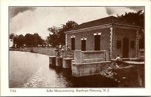 Vtg Lake Musconetcong Stanhope Netcong New Jersey NJ Unposted Postcard
