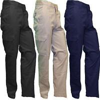 Henbury Men's Cargo Pants Trousers 100% Cotton Twill H620 Superb New