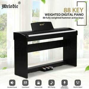 Melodic Digital Piano 88-Key Hammer Action w/ Weighted Keyboard 128 Polyphony