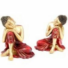 BOUDDHA THAI STATUE SCULPTURE LOT DE 2 ASSORTIS NEUF