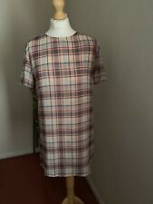 Missguided Women Checked Tshirt Size 10