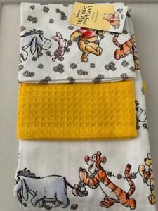 Disney Winnie The Pooh Tea towels Pack of 3 Brand New