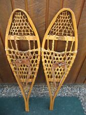 """Nice Snowshoes 41"""" Long x 11"""" Wide Torpedo + Leather Bindings Ready To Use"""
