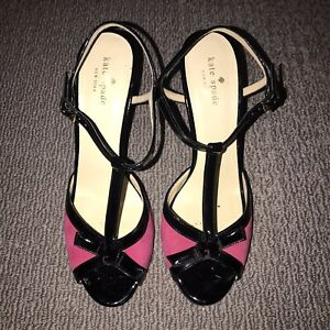 Kate Spade New York Ankle Strap Heels - Sz US 9.5B With Bow