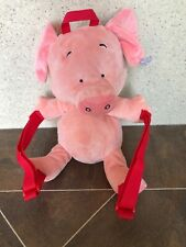 "WIBBLY PIG MICK INKPEN 12"" RAINBOW DESIGN PLUSH STUFFED BACKPACK BAG RUCKSACK"