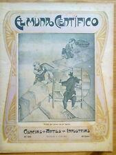 ANTIGUA REVISTA AÑO 1904 MUNDO CIENTIFICO,SORPRENDENTES NOTICIAS,PUBLICIDAD.223