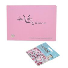 "Hen Night Memories Hardback Book + Pack ""L Plate"" table confetti Bride Wedding"