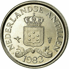 [#708868] Munten, Nederlandse Antillen, Juliana, 10 Cents, 1983, ZF, Nickel