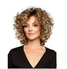Sexy Women Short Blonde Natural Curly Hair Cosplay Daily Heat Resistant Full Wig