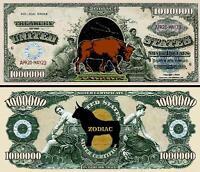 Chimpanzee Collectible 2 FAKE Monkey Dollar Bills M1 MONEY Novelty